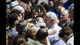 Democratic presidential candidate, former Vice President Joe Biden meets with attendees during a campaign rally at Eakins Oval in Philadelphia, Saturday, May 18, 2019. (AP Photo/Matt Rourke)