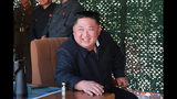 """FILE - This May 9, 2019, file photo provided on May 10, by the North Korean government shows North Korean leader Kim Jong Un, observing a military test in North Korea. North Korea has labeled Joe Biden a """"fool of low IQ"""" and an """"imbecile bereft of elementary quality as a human being"""" after the Democratic presidential hopeful during a recent speech called North Korean leader Kim Jong Un a tyrant. Independent journalists were not given access to cover the event depicted in this image distributed by the North Korean government. The content of this image is as provided and cannot be independently verified. Korean language watermark on image as provided by source reads: """"KCNA"""" which is the abbreviation for Korean Central News Agency. (Korean Central News Agency/Korea News Service via AP, File)"""
