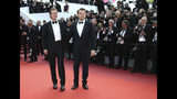 Actors Leonardo DiCaprio and Brad Pitt pose for photographers upon arrival at the premiere of the film 'Once Upon a Time in Hollywood' at the 72nd international film festival, Cannes, southern France, Tuesday, May 21, 2019. (Photo by Joel C Ryan/Invision/AP)