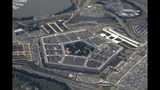 FILE - In this June 3, 2011, file photo, the Pentagon is seen from air from Air Force One. Nearly two dozen progressive groups are launching a new push to persuade Democratic presidential candidates to support dramatic spending cuts at the Pentagon. (AP Photo/Charles Dharapak, File)