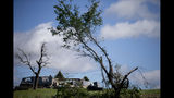 A severe overnight storm that may have been a tornado destroyed this home, in rural Adair, Iowa, seen Wednesday, May 22, 2019. (Kelsey Kremer/The Des Moines Register via AP)