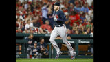 Atlanta Braves' Freddie Freeman runs the bases after hitting a solo home run during the sixth inning of a baseball game against the St. Louis Cardinals, Friday, May 24, 2019, in St. Louis. (AP Photo/Scott Kane)