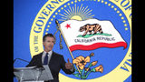 Gov. Gavin Newsom speaks at the California Chamber of Commerce's 94th Annual Sacramento Host Breakfast, Thursday, May 23, 2019, in Sacramento, Calif. Newsom said housing and inequality are two of the biggest issues facing state government and California businesses. (AP Photo/Rich Pedroncelli)