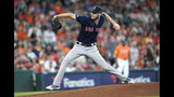 Boston Red Sox starting pitcher Chris Sale throws during the first inning of a baseball game against the Houston Astros Friday, May 24, 2019, in Houston. (AP Photo/David J. Phillip)