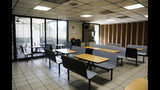 This Thursday, May 9, 2019 photo shows the one break room for the facility in the old St. Petersburg Police Department building in St. Petersburg, Fla. The old St. Petersburg Police Department building is full of horror stories. Labyrinths of desks. Haunted evidence lockers. Archaic plumbing. Dungeon-like, windowless buildings. Detectives and civilians who make up the 800-member force are thrilled to be moving to the shiny new state-of-the-art building across the street. (Dirk Shadd/Tampa Bay Times via AP)