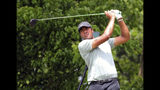 Tony Finau hits off the sixth tee in the final round of the Charles Schwab Challenge golf tournament Sunday, May 26, 2019 in Fort Worth, Texas. (AP Photo/ Richard W. Rodriguez)