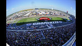Drivers take the free flag for the start of a NASCAR Cup Series auto race at Charlotte Motor Speedway in Concord, N.C., Sunday, May 26, 2019. (AP Photo/Mike McCarn)