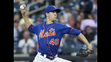 New York Mets starting pitcher Jacob deGrom delivers during the team's baseball game against the Washington Nationals, Wednesday, May 22, 2019, in New York. (AP Photo/Kathy Willens)