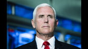 Vice President Mike Pence speaks with members of the media at JLS Automation in York, Pa., Thursday, June 6, 2019. (AP Photo/Matt Rourke)