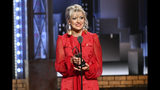 """Anais Mitchell accepts the award for best original score for """"Hadestown"""" at the 73rd annual Tony Awards at Radio City Music Hall on Sunday, June 9, 2019, in New York. (Photo by Charles Sykes/Invision/AP)"""