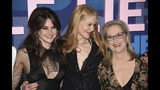"""Shailene Woodley, from left, Nicole Kidman and Meryl Streep attend the premiere of HBO's """"Big Little Lies"""" season two at Jazz at Lincoln Center on Wednesday, May 29, 2019, in New York. (Photo by Evan Agostini/Invision/AP)"""