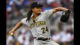 Pittsburgh Pirates' Chris Archer pitches during the first inning of a baseball game against the Atlanta Braves, Tuesday June 11, 2019, in Atlanta. (AP Photo/John Amis)
