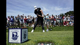 Brooks Koepka hits his tee shot on the ninth hole during a practice round for the U.S. Open Championship golf tournament Monday, June 10, 2019, in Pebble Beach, Calif. (AP Photo/David J. Phillip)
