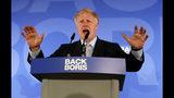 El legislador del Partido Conservador de Gran bretaña Boris Johnson habla durante el lanzamiento oficial de su campaña para primer ministro, en Londres, el miércoles 12 de junio del 2019. (AP Foto/Frank Augstein)