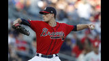 Atlanta Braves starting pitcher Max Fried works against the Philadelphia Phillies during the first inning of a baseball game Friday, June 14, 2019, in Atlanta. (AP Photo/John Bazemore)