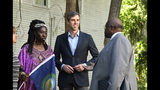 Former Texas Congressman Beto O'Rourke tours monuments to slave and civil rights leaders before a town hall meeting with members of the Gullah/Geechee Nation Friday, June 14, 2019 in Beaufort, S.C. In South Carolina on Friday, the Democratic presidential candidate and former Texas congressman met with leaders of the Gullah/Geechee Nation, a culture of slave descendants along the Southeast coast. (AP Photo/Meg Kinnard)