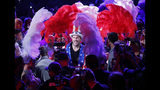 Tyson Fury, of England, enters the arena before a heavyweight boxing match against Tom Schwarz, of Germany, Saturday, June 15, 2019, in Las Vegas. (AP Photo/John Locher)