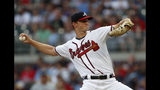 Atlanta Braves starting pitcher Mike Soroka delivers in the first inning of a baseball game against the New York Mets, Monday, June 17, 2019, in Atlanta. (AP Photo/John Bazemore)