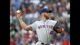 New York Mets starting pitcher Zack Wheeler (45) works in the first inning of a baseball game against the Atlanta Braves, Monday, June 17, 2019, in Atlanta. (AP Photo/John Bazemore)