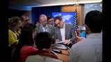 Deputy Spokesperson Robert Palladino speaks with reporters following a news conference at the State Department in Washington, Monday, June 17, 2019. (AP Photo/Andrew Harnik)