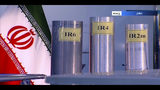FILE - In this June 6, 2018 frame grab from Islamic Republic Iran Broadcasting, IRIB, state-run TV, three versions of domestically-built centrifuges are shown in a live TV program from Natanz, an Iranian uranium enrichment plant, in Iran. On Monday, June 17, 2019, Iran said it will break the uranium stockpile limit set by Tehran's nuclear deal with world powers in the next 10 days. (IRIB via AP, File)