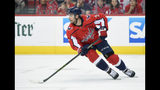 FILE - In this April 26, 2018, file photo, Washington Capitals defenseman Matt Niskanen (2) skates with the puck during the first period in Game 1 of an NHL second-round hockey playoff series against the Pittsburgh Penguins,in Washington. The Philadelphia Flyers have acquired defenseman Matt Niskanen from the Washington Capitals for defenseman Radko Gudas. This is the first significant move of the NHL offseason after the St. Louis Blues won the Stanley Cup less than 36 hours prior. (AP Photo/Nick Wass, File)