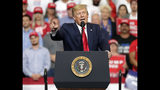 President Donald Trump speaks to supporters as he formally announced his 2020 re-election bid Tuesday, June 18, 2019, in Orlando, Fla. (AP Photo/John Raoux)