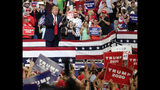 President Donald Trump greets supporters after his speech where he formally announced his 2020 re-election bid Tuesday, June 18, 2019, in Orlando, Fla. (AP Photo/John Raoux)