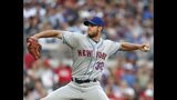 New York Mets starting pitcher Steven Matz (32) delivers in the first inning of a baseball game against the Atlanta Braves Wednesday, June 19, 2019, in Atlanta. (AP Photo/John Bazemore)