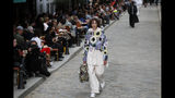 A model wears a creation for the Vuitton mens Spring-Summer 2020 fashion collection presented in Paris, Thursday, June 20. (AP Photo/Francois Mori)