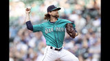 Seattle Mariners starter Mike Leake delivers a pitch during the first inning of a baseball game against the Baltimore Orioles, Friday, June 21, 2019, in Seattle. (AP Photo/Stephen Brashear)