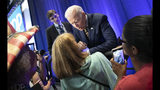 Former Vice President Joe Biden greets supporters during the South Carolina Democratic Convention in Columbia, S.C. (Tracy Glantz/The State via AP)