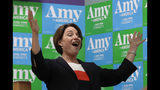 Democratic presidential candidate Sen. Amy Klobuchar, D-Minn., speaks at a campaign event, Monday, June 10, 2019, in Concord, N.H. (AP Photo/Elise Amendola)