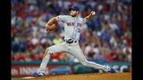 New York Mets' Steven Matz pitches during the fourth inning of a baseball game against the Philadelphia Phillies, Monday, June 24, 2019, in Philadelphia. (AP Photo/Matt Slocum)
