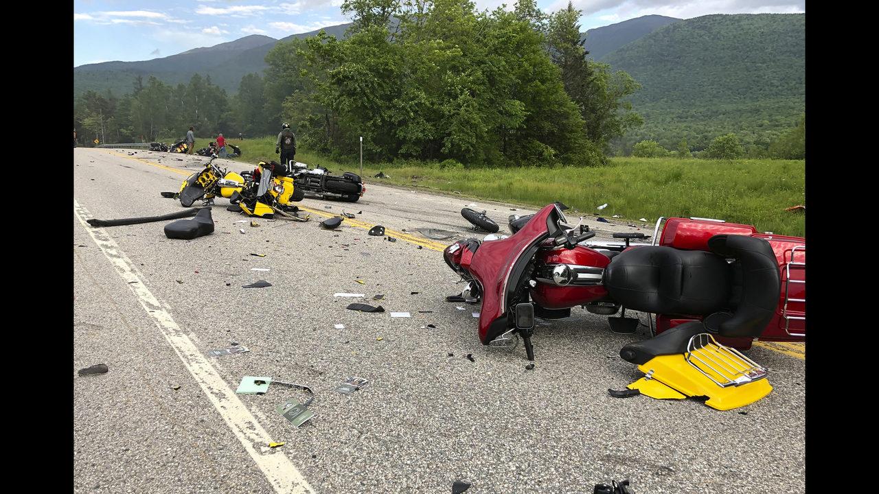 The Latest: Biker crash suspect had past drunk driving stops