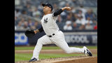 New York Yankees relief pitcher Nestor Cortes Jr. throws during the fourth inning of the team's baseball game against the Toronto Blue Jays, Tuesday, June 25, 2019, in New York. (AP Photo/Kathy Willens)