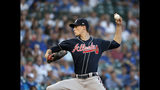 Atlanta Braves starting pitcher Max Fried delivers during the first inning of a baseball game Chicago Cubs, Tuesday, June 25, 2019, in Chicago. (AP Photo/Charles Rex Arbogast)