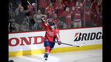 """FILE - In this April 13, 2019, file photo, Washington Capitals defenseman Brooks Orpik (44) celebrates his game-winning goal in overtime of Game 2 of an NHL hockey first-round playoff series against the Carolina Hurricanes in Washington. Orpik has decided to retire after 15 seasons and two Stanley Cup championships. The 38-year-old announced his retirement Tuesday, June 25, 2019. Orpik says his body is """"telling me it is time to move on to something new"""" after 1,171 NHL regular-season and playoff games. (AP Photo/Nick Wass, File)"""