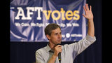 Democratic presidential candidate Beto O'Rourke speaks during an American Federation of Teachers town hall, Tuesday, June 25, 2019, in North Miami, Fla. (AP Photo/Lynne Sladky)