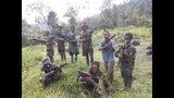 Guerrilleros del Ejército de Liberación de Papúa Occidental en la región de Nduga, provincia de Papúa, Indonesia en mayo del 2019. Foto difundida por el Ejército de Liberación de Papúa Occidental y la Organización por la Libertad de Papúa, vía AP.