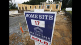 In this June 13, 2019, photo a new home is under construction in Mechanicsville, Va. On Tuesday, June 25, The Commerce Department reports on sales of new homes in May. (AP Photo/Steve Helber)