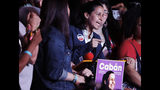 Queens district attorney candidate Tiffany Caban speaks to supporters Tuesday, June 25, 2019, in the Queens borough of New York. (AP Photo/Frank Franklin II)