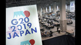 Media center is seen prior to the G-20 summit in Osaka, western Japan, Thursday, June 27, 2019. The two-day summit starts Friday. (AP Photo/Eugene Hoshiko)