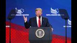 President Donald Trump speaks at the Faith & Freedom Coalition conference in Washington, Wednesday, June 26, 2019. (AP Photo/Pablo Martinez Monsivais)