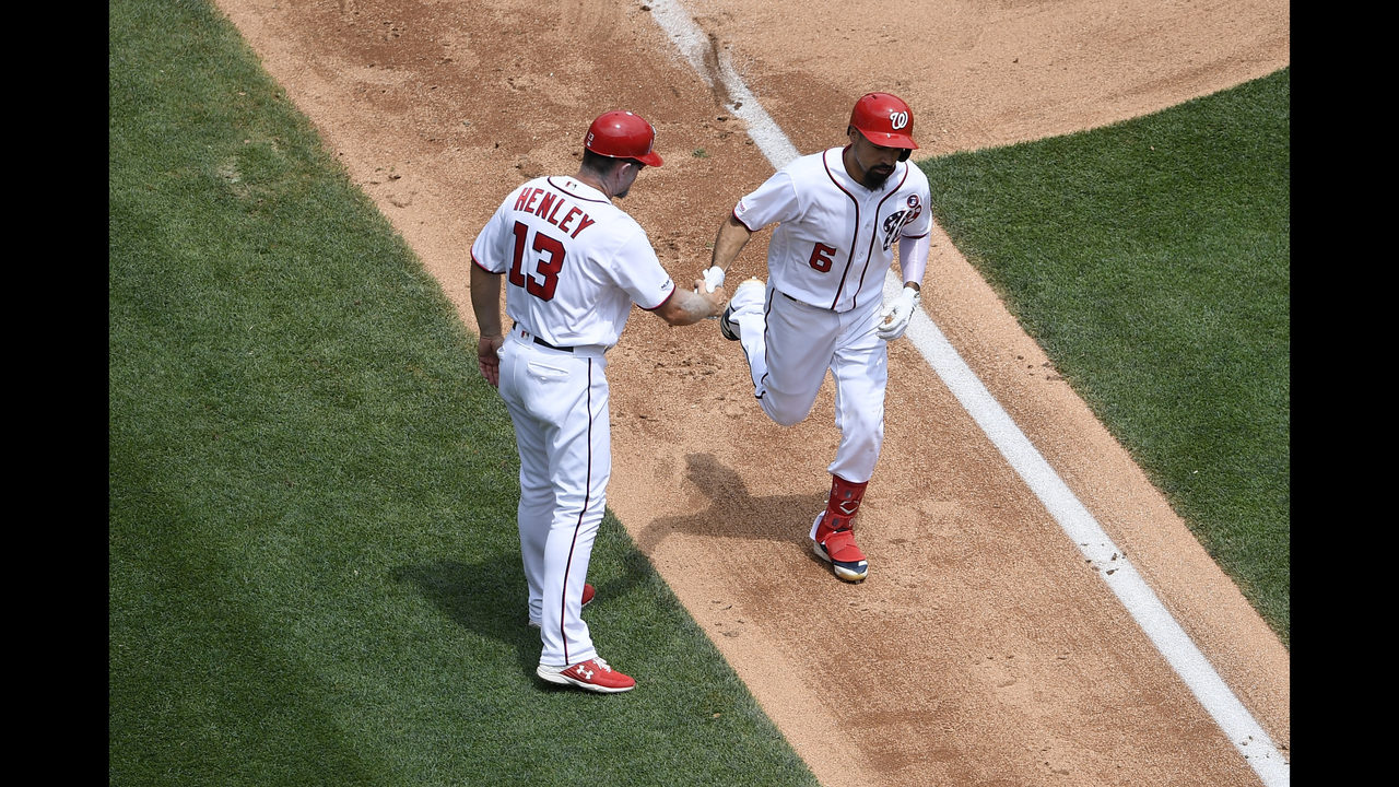 Rendon homers, red-hot Nationals complete sweep of Marlins