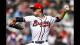 Atlanta Braves' Max Fried pitches against the Miami Marlins during the first inning of a baseball game Saturday, July 6, 2019, in Atlanta. (AP Photo/John Amis)