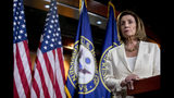 House Speaker Nancy Pelosi of Calif. listens to a question as she meets with reporters on Capitol Hill in Washington, Thursday, July 11, 2019. (AP Photo/Andrew Harnik)