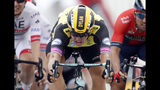 Netherlands' Dylan Groenewegen sprints to win the seventh stage of the Tour de France cycling race over 230 kilometers (142,9 miles) with start in Belfort and finish in Chalon sur Saone, France, Friday, July 12, 2019. (AP Photo/Christophe Ena)