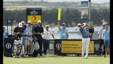 South Africa's Christiaan Bezuidenhout plays his tee shot off the 2nd during a practice round ahead of the start of the British Open golf championships at Royal Portrush in Northern Ireland, Tuesday, July 16, 2019. The British Open starts Thursday. (AP Photo/Matt Dunham)