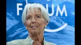 ARCHIVO - Foto de archivo, 4 de enero de 2019, de la directora general del FMI Christine Lagarde en el Foro Económico Mundial en Davos, Suiza. Lagarde renunció al FMI el martes 16 de julio de 2019 al ser nominada a la presidencia del Banco Central Europeo. (AP Foto/Markus Schreiber, File)